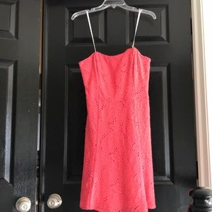 Lilly Pulitzer corset strapless lace dress